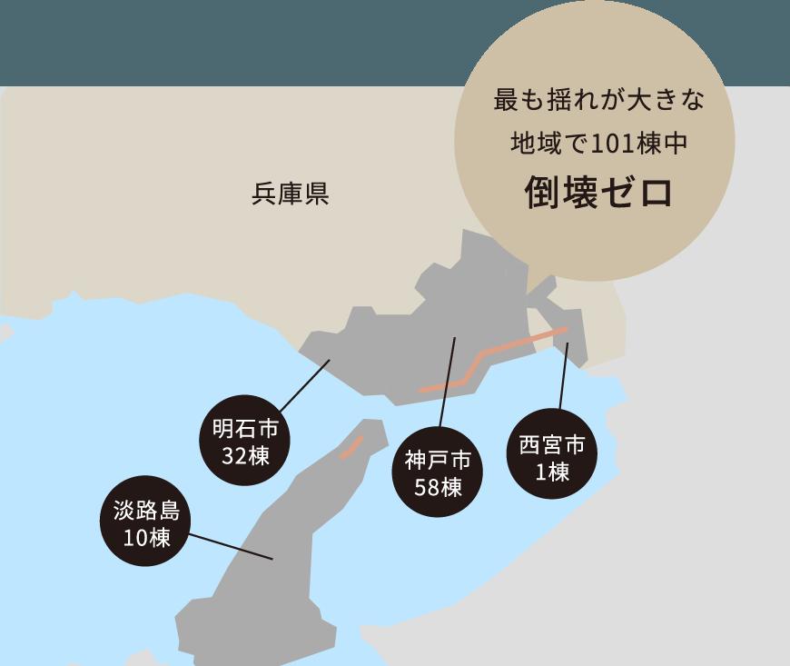 最も揺れが大きな地域で101棟中 倒壊ゼロ